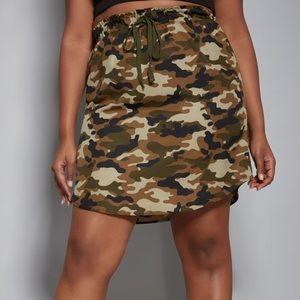 Camo Drawstring Skirt